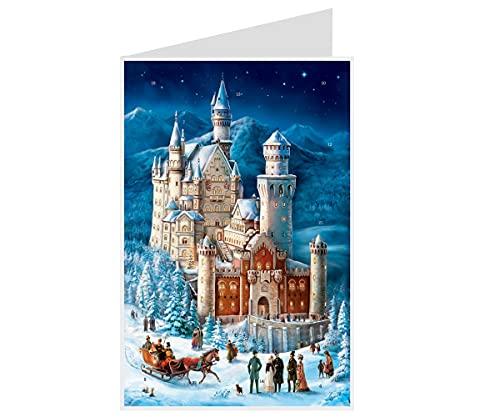 Richard Sellmer Verlag Postkarten Adventskalender Schloss Neuschwanstein
