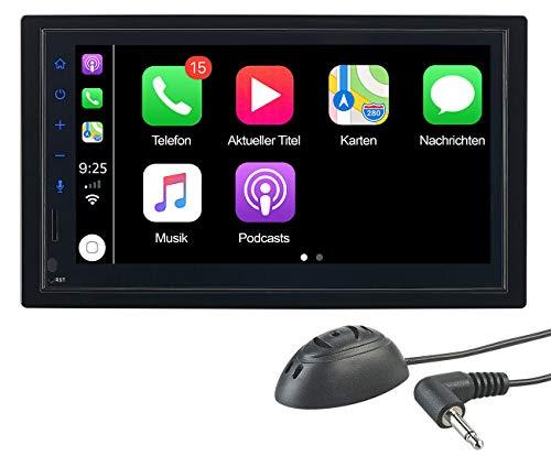 CREASONO Autoradios: 2-DIN-Autoradio mit Freisprechfunktion,...