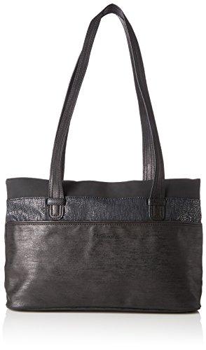 Tamaris Damen Khema Shoulder Bag Schultertasche, Schwarz (Black Comb.), 10,5x22x32,5 cm