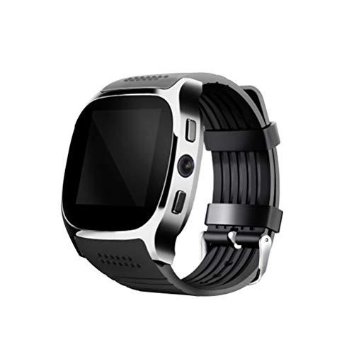 Smart Watch T8 BT3.0 Smart Armbanduhr Unterstützung SIM und TFcard Kamera Schrittzähler Sport Tracker (Schwarz)