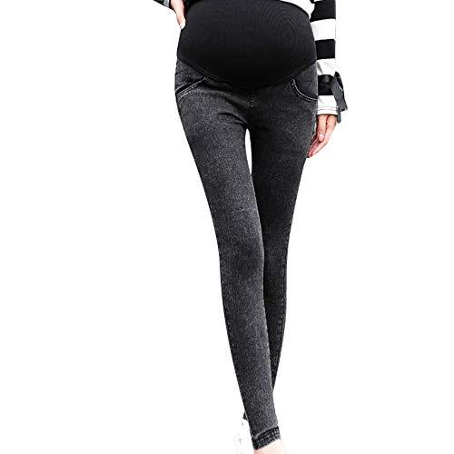 RISTHY Pantalones de Maternidad Pantalones Vaqueros Elásticos Suaves Premamá Jeans Circunferencia de Cintura Ajustable Elásticos y Comodos Otoño Verano para Embarazada