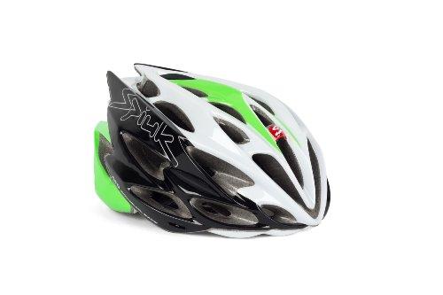 Spiuk Nexion - Casco de Ciclismo, Color Verde/Blanco/Negro, Talla 53-61