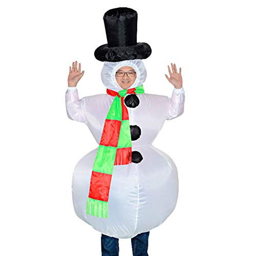 E-House Delivers Christmas Inflatable Snowman Cosplay Costume Party Dress Blow Up Body Suit Jumpsuit 1 #