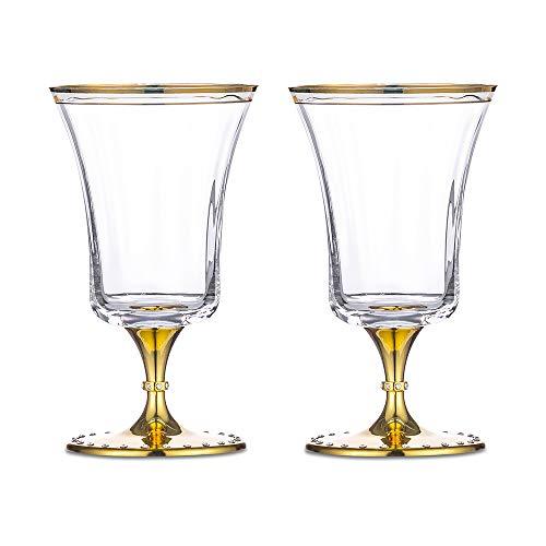 Nuptio Vasos de Cerveza Vasos Belgas Pilsner Juego de 2, Juego de...