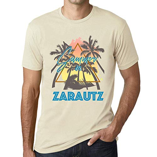 One in the City Hombre Camiseta Vintage T-Shirt Gráfico Summer Triangle Zarautz Natural