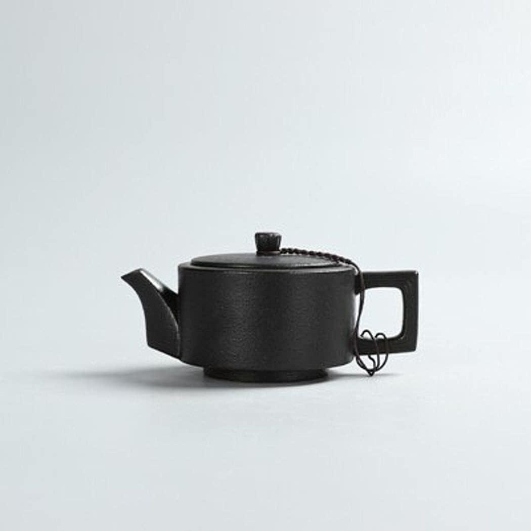 Creative Black Pottery Teapots Hand Tea Vintage Pot Made Brand Cheap Sale Venue Luxury Ceramic