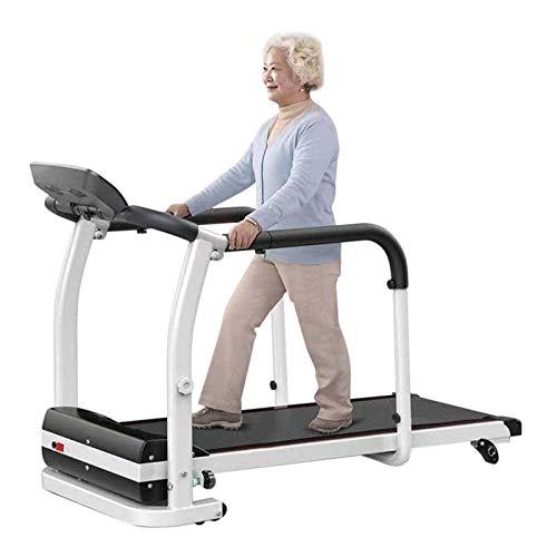 Cinta De Correr Eléctrica Plegable De Motor 2.0HP, Máquina De Caminar Para Ancianos En Casa Rehabilitación De Extremidades De Ejercicio Físico Seguridad De Entrenamiento En Interiores, 0.5-6Km / H