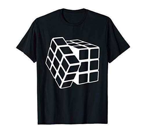 Awesome Rubix Rubiks Rubics Cube Line Art Problem Solver Camiseta