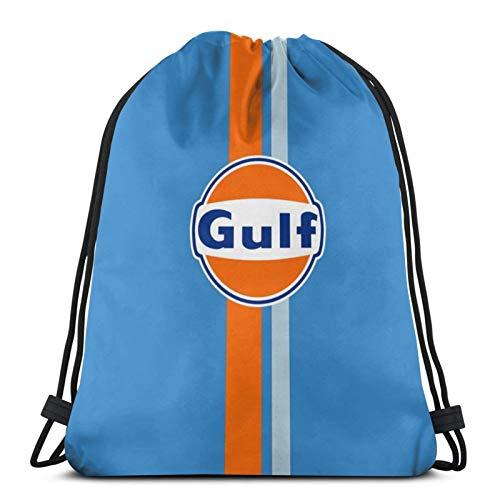 jiadourun Drawstring Bags Gu-Lf Rac-Ing Re-Tro Unisex Travel Backpack Sport Gym Backpacks Shopping Storage Bag