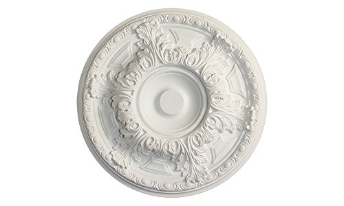 Ceiling Medallions - Ceiling Medallion for Chandeliers 19 inch (White)