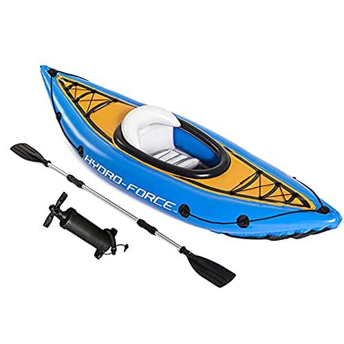 YMXLXL Kayak Hinchable para 1 Personas, Kayaks Deportivos, con Bomba y Remo, Carga Máxima 100kg, para Lagos y Costas Azul 275X81cm