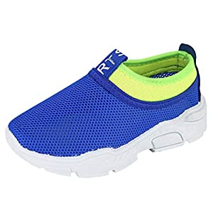 YWLINK NiñOs NiñAs Zapatos, Malla Colores Mezclados Zapatillas Casual Zapatos Al Aire Libre MontañIsmo Corriendo Moda Casual Antideslizante Transpirable Fiesta Regalo(Azul,34EU)