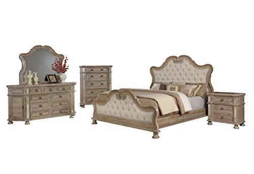 Fantastic Prices! Best Quality Furniture CATALINA 5PC Queen Bed + Dresser + Mirror + Nightstand + Ch...