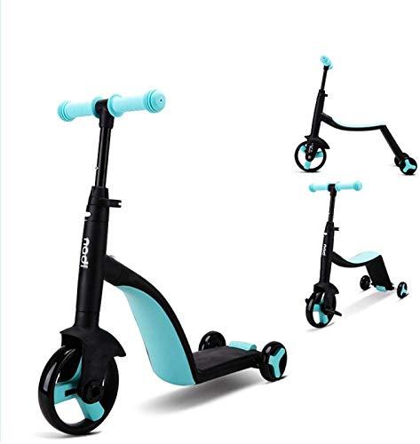 ANZRY Scooter para Niños De 3 Ruedas Niños De 3 A 6 Ruedas con Luz LED Diseño Plegable Asas Ajustables
