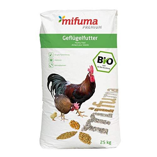 mifuma Premium Bio Geflügelkörner 25 kg Hühnerfutter Wachtelfutter Entenfutter Putenfutter