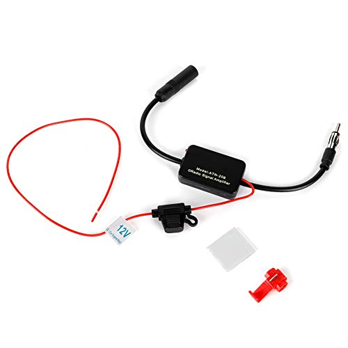 Antennenverstärker, Auto Antenne ANT-208 Universal-Autoradiosignal FM/AM Antennenverstärker Antennen zur Windschutzscheibenmontage
