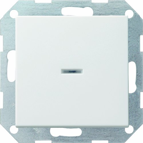 Gira 013627 Tastschalter Kontroll Wechsel System 55, reinweiß matt