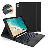 Backlit Bluetooth Touch Keyboard Case for The New iPad 10.2 2019/2020 (8th/7th Gen)/iPad Air 2019 3rd Gen/iPad Pro 10.5, Jelly Comb Keyboard with Build-in Touchpad and Protective Cover, Black