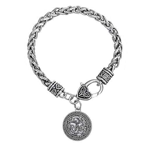 LH&BD Anzuelo de Viking Colgante De Vadstena Suecia La Moneda de Pulsera talismán para Regalos de la joyería de Las Mujeres brazaletes de la Manera