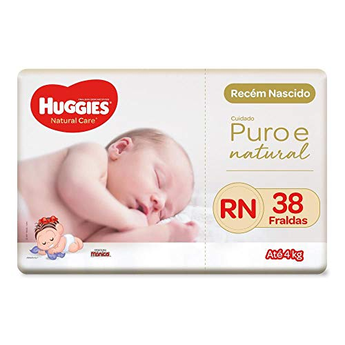 Fralda Huggies Natural Care Rn, 38 Fraldas, Huggies