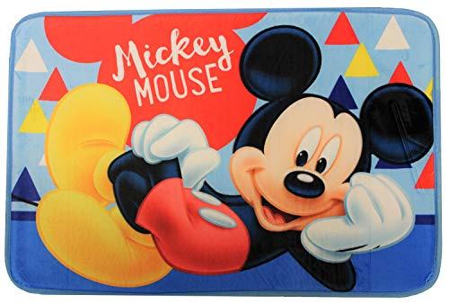 Alfombra de baño Varios Temas de Cine y televisión, Spider-Man, Cars, Ariel The Mermaid, Frozen, Mickey Mouse, Minnie Mouse, Alfombra de baño 40 x 60 cm para niños (Mickey Mouse)