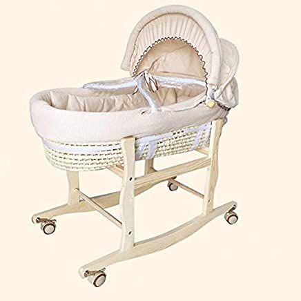 HEEGNPD Complete Sets Cradle Include 1pcs Wooden Cradle Holder And Corn Bed And Cloth Fabric Quilt And Mattress
