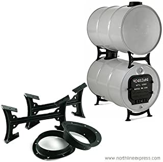 US Stove Company BK50E Natural Organic Double Barrel Stove Kit