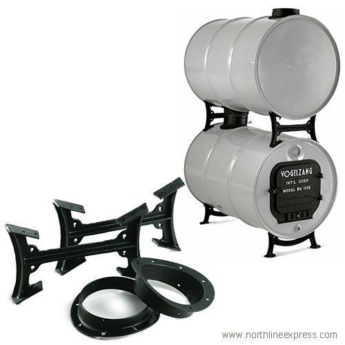 US Stove Company BK50E Natural Organic Double Barrel Stove Kit