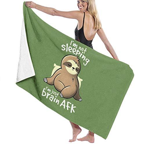 Zachary Duschtuch Sherman Brain AFK Sloth Badetuch Strandtuch Duschtuch antibakteriell saugfähig weich hochwertig 130 x 80 cm