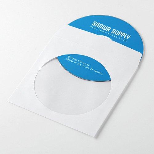 サンワサプライ アウトレット ペーパースリーブケース(CD・DVD用・ホワイト・50枚入り・保護ケース) FCD-PS50WN 箱にキズ、汚れのあるアウトレット品です。
