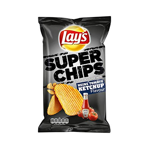 Chips de tomate Heinz | Lay's | Super Chips Heinz Tomate Ketchup | Peso total 215 gramos