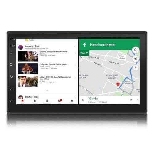 Woodman Neo5 – 7 inch Android Car Stereo (2GB /16GB) Split Screen | Android 9 | Night Vision Camera