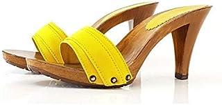 Kiara Shoes - Zoccoli con Tacco 9 Fascia Gialla - K6101 GIALLO
