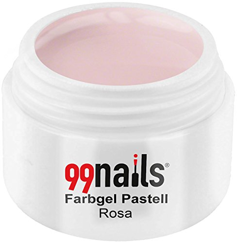 99nails Farbgel Pastell Rosa UV Farb Gel Nägel Farb Gel, 1er Pack (1 x 5 ml)