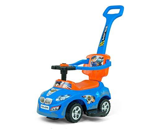 Jeździk chodzik autko 3w1 Milly Mally Happy Blue