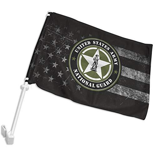 POYOMUK US Air Force Army Veteran USA-Flagge Auto-Flagge Gartenflagge 30,5 x 45,7 cm für Autos, LKWs, Fahrzeugflagge Fensterclip Halterung Garten Außendekoration (ohne Flaggenmast)