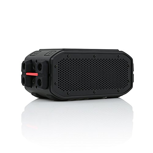 BRAVEN BRV-PRO Portable Wireless Bluetooth Speaker [30 Hours][Waterproof] Built-in 2200 mAh Power Bank Charger - Black/Red