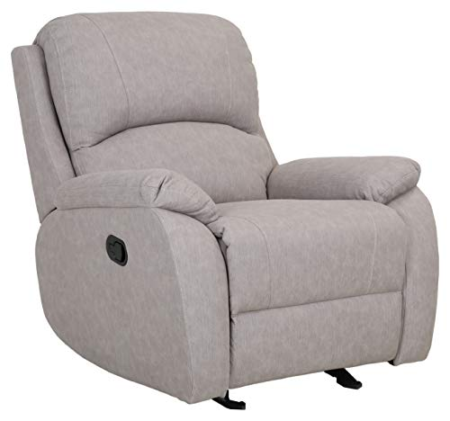 """Amazon Brand – Ravenna Home Oakesdale Contemporary Recliner, 35.4""""W, Langley Buff"""