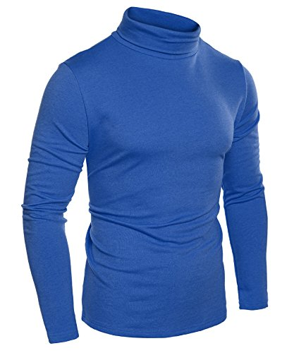 Blue Turtleneck Sweaters Men's