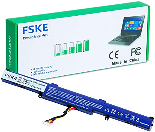 FSKE® A41-X550E Laptop Akku für ASUS F751M F751M F751L F550DP F751 X450 X450J A450 A450J K550E Serie Notebook,15V 2500mAh