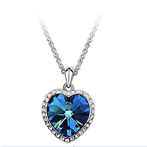NoBrand Fashion Fine Jewelry Strass Kristall Ozean Herz Titanic Clavicle Kette Halsketten & amp;Anhänger für Frauen