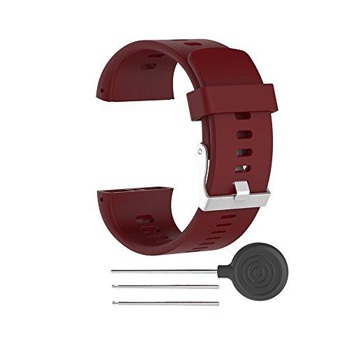 WEINISITE Ersatz Armband für Polar V800 (Rot)