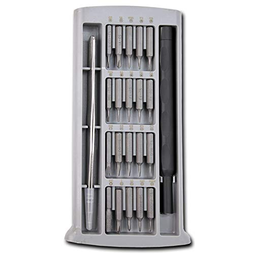 Magnetische precisieschroevendraaier-box - 20 tips + 1 clip - ultraergonomische softcase