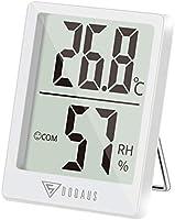 DOQAUS Thermometre Interieur, Hygrometre Interieur de Haute Précision, ℃/℉Commutable, pour Détecter humidité et la...
