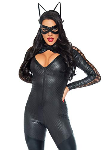 Leg Avenue Wicked Kitty Adult Sized Costumes, Noir, Small (EUR 36) pour Femmes