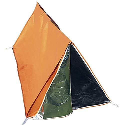 WJQ Tenda di Sopravvivenza di Emergenza - Tende di Primo Soccorso, Protezione Solare Resistente all\'Usura Tear Resistant Portable Visible Orange - Ideale per l\'escursione di Emergenza all\'aperto
