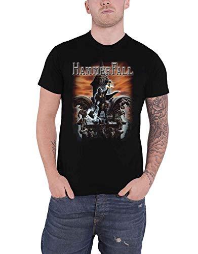 HammerFall T Shirt Built to Last Band Logo Nue offiziell Herren