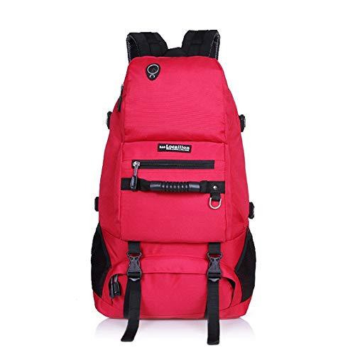 HXXBY Camuflaje portátil Mochila Fan Militar al Aire Libre Viaje montaña Escalada Mochila Senderismo montañismo salga de Viaje (Color : Rojo)