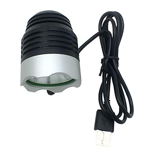Luz para Bicicleta Autogenerada, Luz para Bicicleta, Combinación de Luz Delantera Y Luz Trasera para Bicicleta Recargable por USB, Compatible con Varios Dispositivos de Alimentación USB,Light