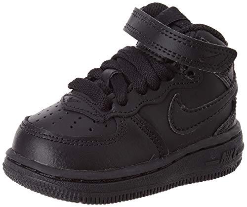 Nike Nike Unisex Baby Force 1 Mid (TD) Sneaker, Schwarz, 17 EU